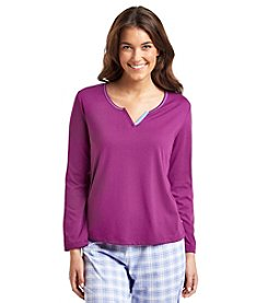 KN Karen Neuburger Long Sleeve Pajama Top