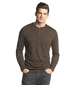 John Bartlett® Men's Long Sleeve Marled Henley Tee