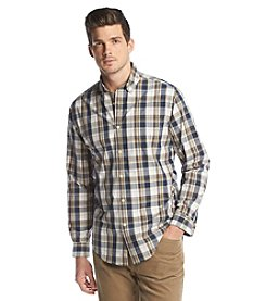 John Bartlett Consensus Men's Long Sleeve Washed Plaid Button Down Shirt