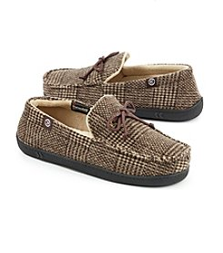 Isotoner Signature® Men's Plaid Corduroy Lace Moccasins