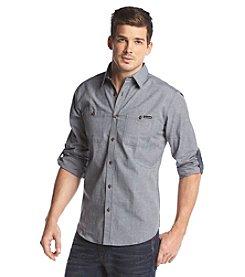 Ocean Current® Men's Long Sleeve Etched Plaid Button Down Shirt