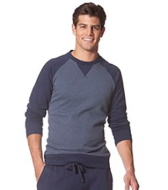 Chaps® Men's Long Sleeve Raglan Color Block Crewneck Pullover