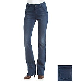 Suede Slim Bootcut Jeans