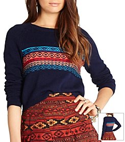 BCBGeneration™ Geo Print Light Sweater