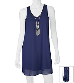 A. Byer Necklace Flutter Back Dress