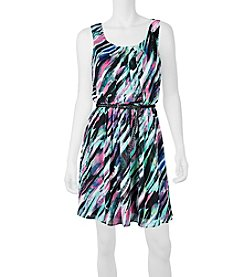 A. Byer Blurry Stripe Dress