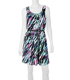 A. Byer Blurry Stripe Dress