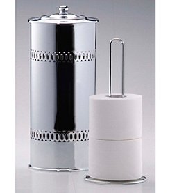 Taymor® Cylinder 3-Roll Wire Toilet Tissue Holder with Lid