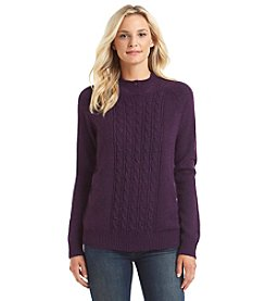 Carolyn Taylor® Buttoned Mock Neck Sweater