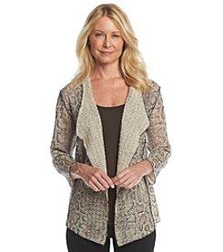 Alfred Dunner® Villa D'este Python Print Cardigan Sweater