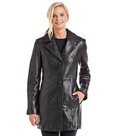 Anne Klein® Notch Collar Button-Up Jacket
