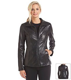 Anne Klein® Zip Front Short Scuba Jacket
