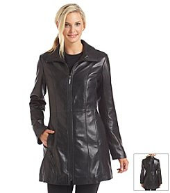 Anne Klein® Long Zip Front Scuba Coat