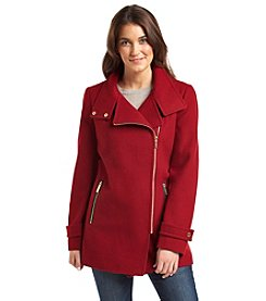 MICHAEL Michael Kors® Asymmetrical Zip Stand Collar Coat