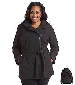 MICHAEL Michael Kors® Plus Size Asymmetric Zip Short Belted Coat