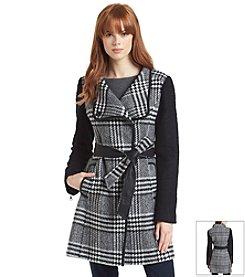 GUESS Asymmetric Belted Walker Coat