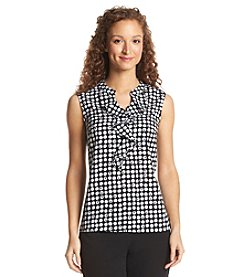 Nine West® Ruffle Neck Dot Cami
