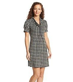 Jessica Howard® Houndstooth Swing Dress