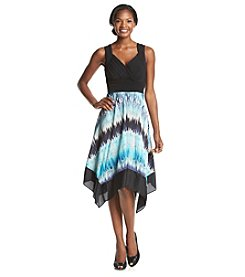 Sangria™ Handkerchief Hem Dress
