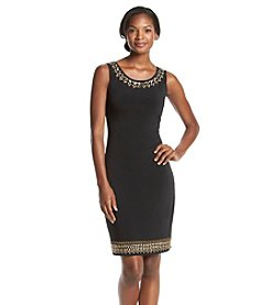 Sangria™ Beaded Sheath Dress
