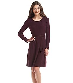 Jessica Howard Petites' Fit And Flare Sweater Dress