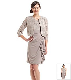 Jessica Howard® Petites' Lace And Sequin Jacket Dress