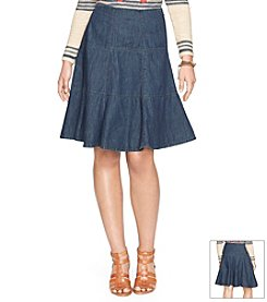 Lauren Jeans Co.® Denim Fit-And-Flare Skirt