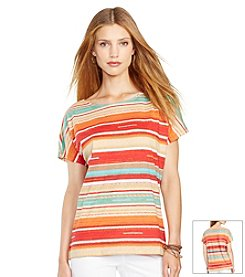 Lauren Jeans Co.® Petites' Striped Cotton T-Shirt