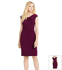 Lauren Ralph Lauren® Ruched Neckline Dress