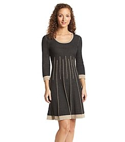 Nine West® Striped Sweater Dress