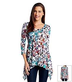 Karen Kane® Three-Quarter Sleeve Handkerchief Top