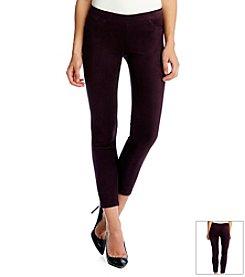 Karen Kane® Faux Suede Ankle Pants