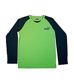 PUMA® Boys' 8-20 Long Sleeve Raglan Tee