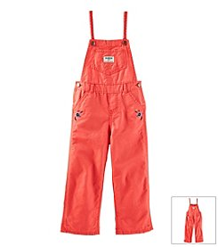 OshKosh B'Gosh® Baby Girls' Embroidered Twill Overalls