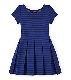 Ralph Lauren Childrenswear Girls' 2T-16 Pleated Fit And Flare Dress