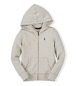 Ralph Lauren Childrenswear Girls' 2T-4T Heather Fleece Hoodie