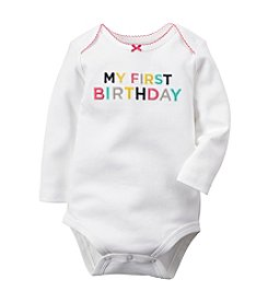 Carter's® Baby Girls' 3-24 Month First Birthday Bodysuit