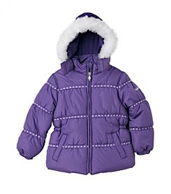 Hawke & Co. Girls' 4-6X Embroidered Bubble Jacket