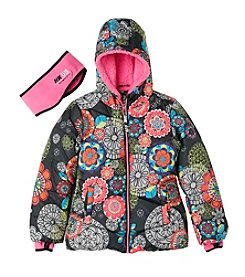 HK58  Girls' 4-16 Printed Puffer Jacket