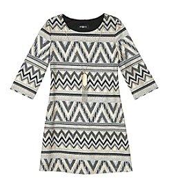 Amy Byer Girls' 7-16 Geo Chevron Print Dress