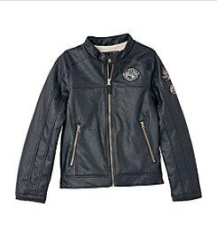 London Fog® Boys' 8-20 Moto Faux Leather Jacket