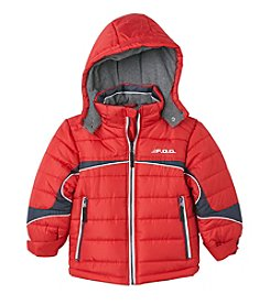 London Fog® Boys' 2T-7 Spliced Puffer
