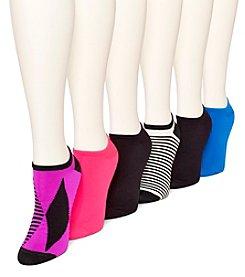 HUE® 6 Pack Microfiber Liner Socks
