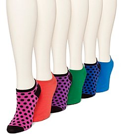 HUE® 6 Pack Cotton Liner Socks