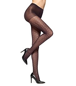 HUE® Circular Dot Sheer Hosiery With Control Top
