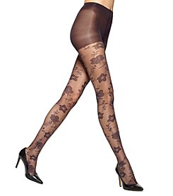 HUE® Pansy Sheer Hosiery With Control Top