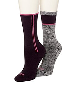 HUE® 2 Pack Air Sleek Block Stripe Socks