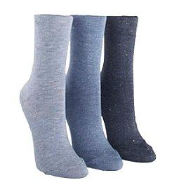 Calvin Klein 3 Pack Sparkle Crew Socks