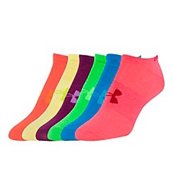 Under Armour® 6 Pack Liner No Show Socks