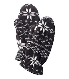 Relativity® Printed Fleece Mittens